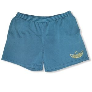 Vintage blue 90s streetwear Adidas shorts large